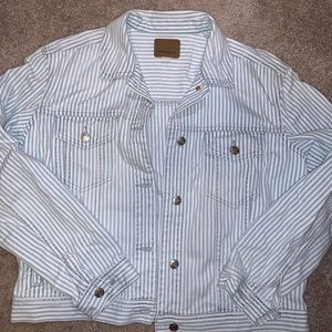 American Eagle pin stripe jean jacket